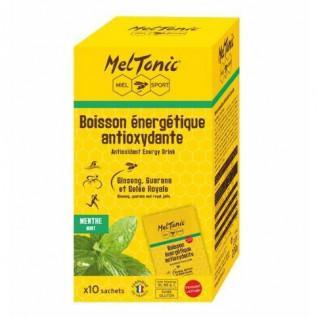 10 Sachets de boisson énergétique antioxydante Meltonic - Menthe