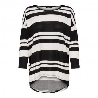 T-shirt femme Only Elcos manches 4/5