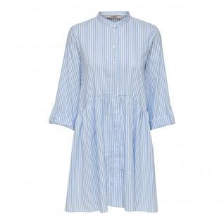 Robe chemise femme Only Ditte life stripe manches 3/4