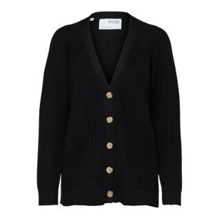 Cardigan femme Selected Emmy knit button