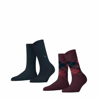 Lot de 2 paires de chaussettes femme Burlington Everyday