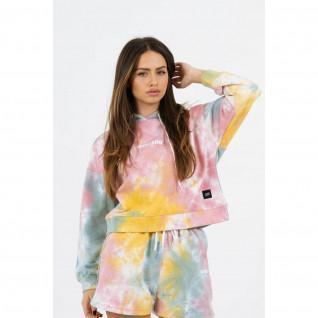 Sweatshirt à capuche femme Sixth June tie dye