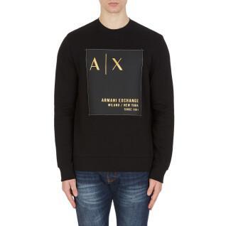 Sweatshirt col rond Armani Exchange 6KZMDB-ZJ6PZ noir