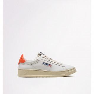 Chaussures femme Autry Dallas Low Leather/Leather White/Coral