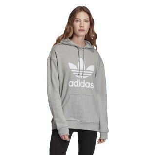 Sweatshirt à capuche femme adidas originals Trefoil