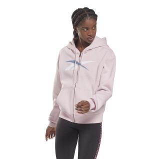 Sweat à capuche zippé femme Reebok Training Essentials Vector