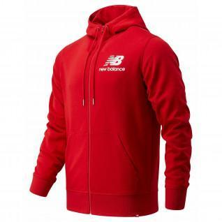 Sweatshirt full zip New Balance essentials stacked