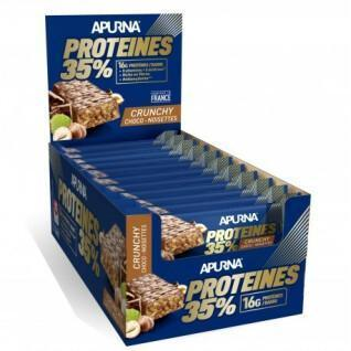Lot de 20 barres Apurna HP Crunchy Chocolat-Noisette