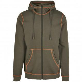 Sweatshirt zippé Urban Classics organic contrast flatlock