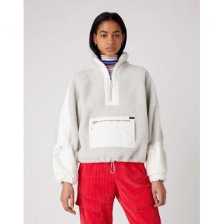 Sweatshirt femme Wrangler Denim Sherpa Pop Over